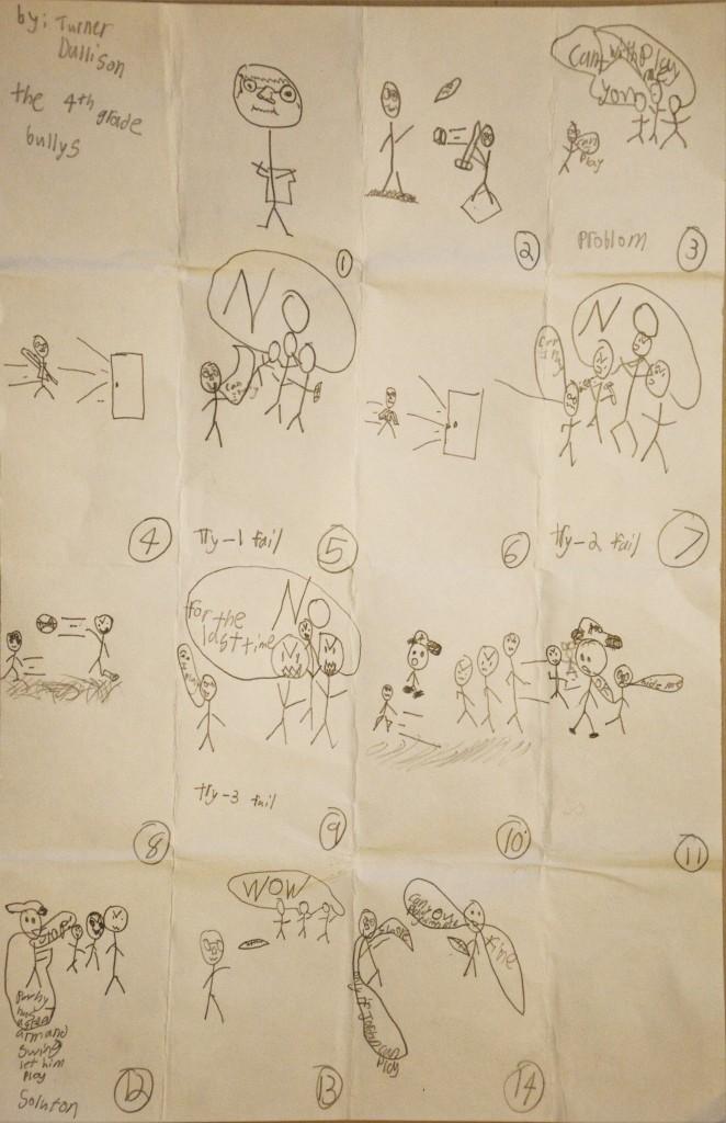 Storyboard Fourth Grade Bullies